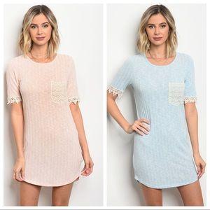 Dresses & Skirts - Lace sleeve dress, dress w crotchet details NWT